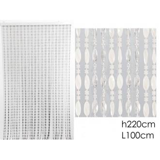 Tenda A Perline Colore Trasparente Per Porte Ecc 100x220 cm Casa Arredo