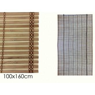Tenda In Bamboo 100x160 cm Colore Marrone o Grigio Con Decorazioni Casa Arredo
