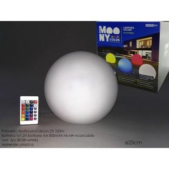 Lampada A Forma di Sfera 25 Centimetri Per Decorare Stanza Varie Luci Colorate Con Luce Solare e Pannello Casa