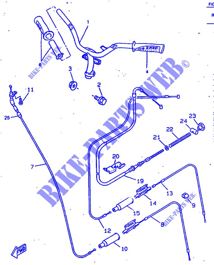 Cavo Starter senza anello manubrio Yamaha Neo's 50/100-2
