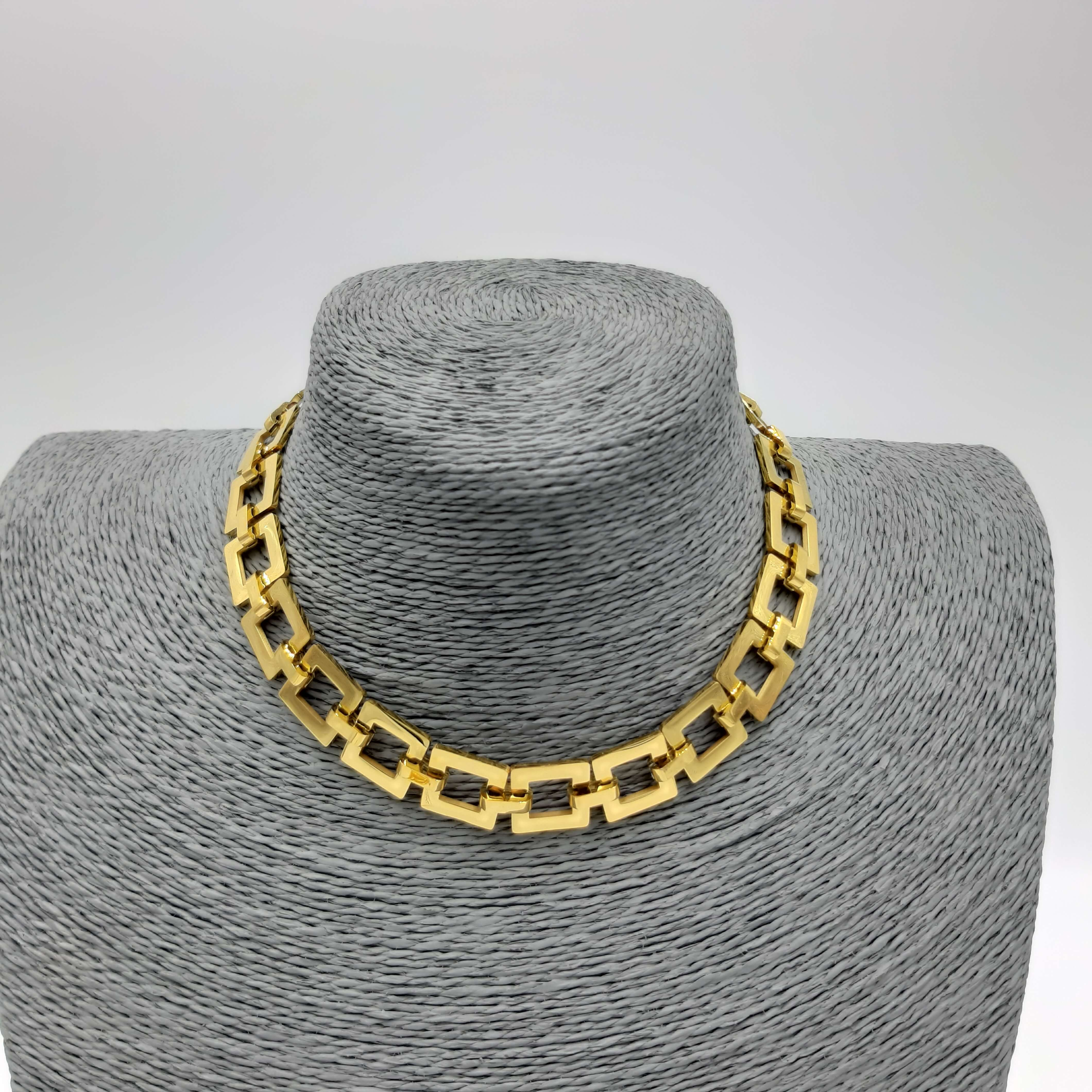 Collana girocollo geometrica oro Rush
