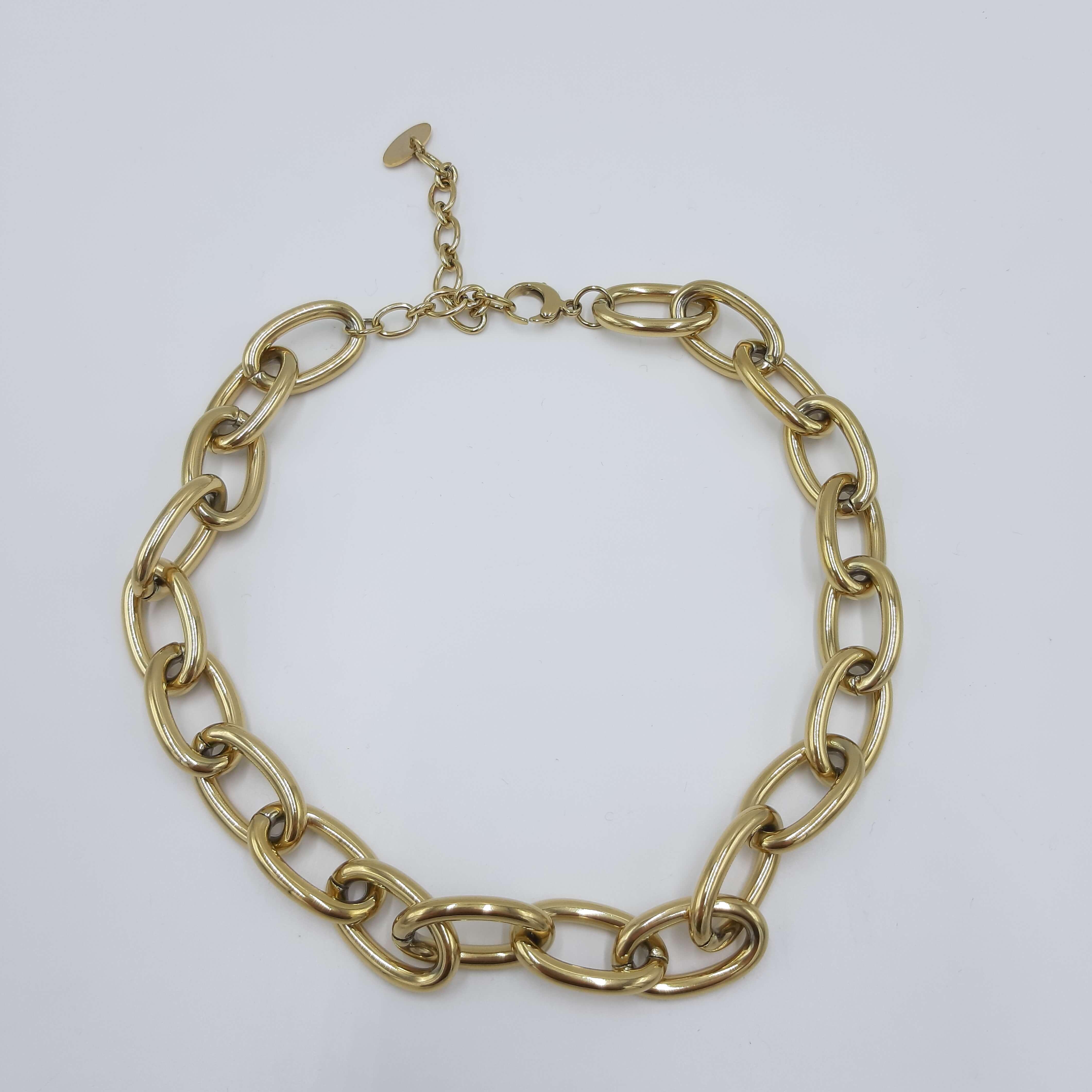 Collana a catena con anelli spessi oro Rush