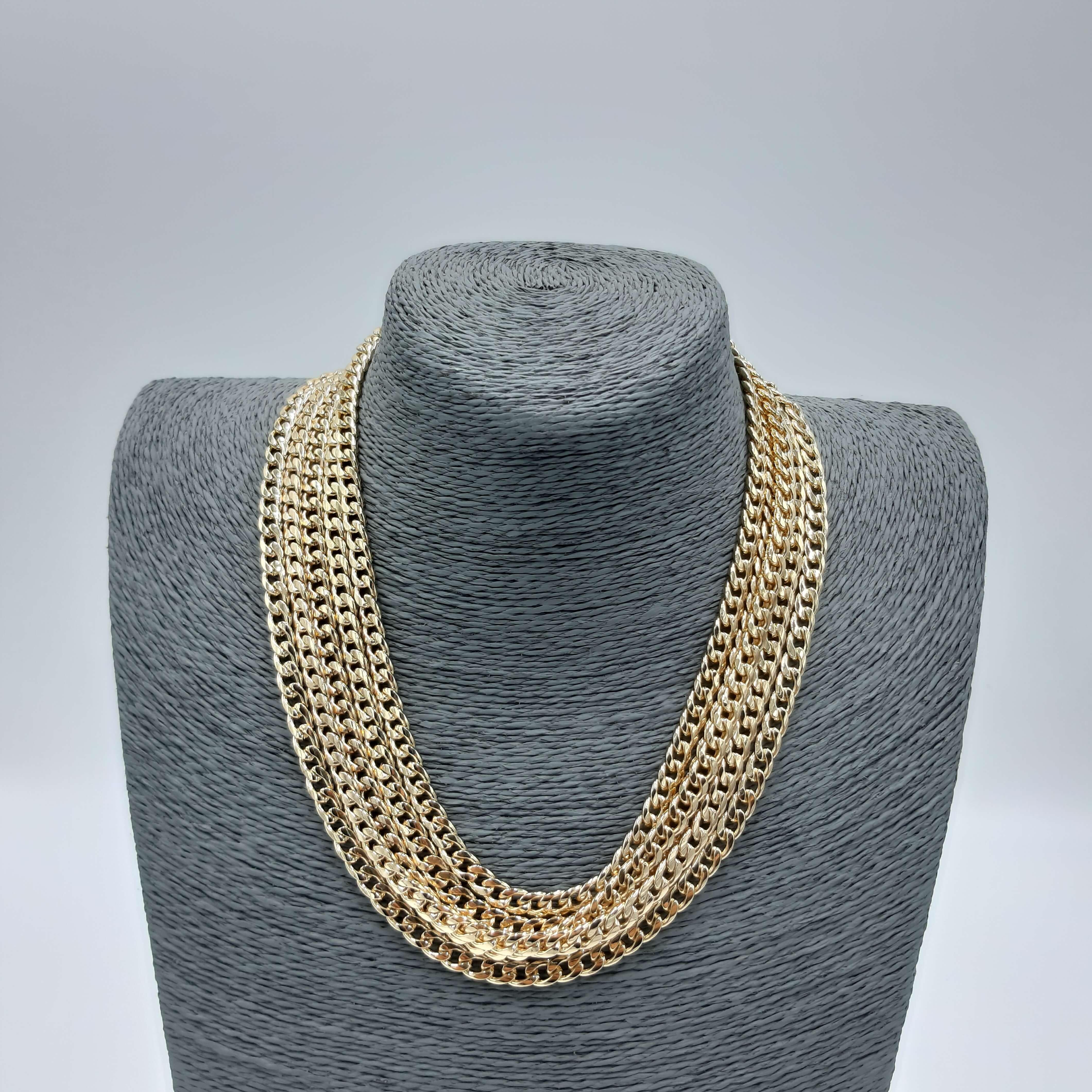 Collana oro a catena con più fili Rush