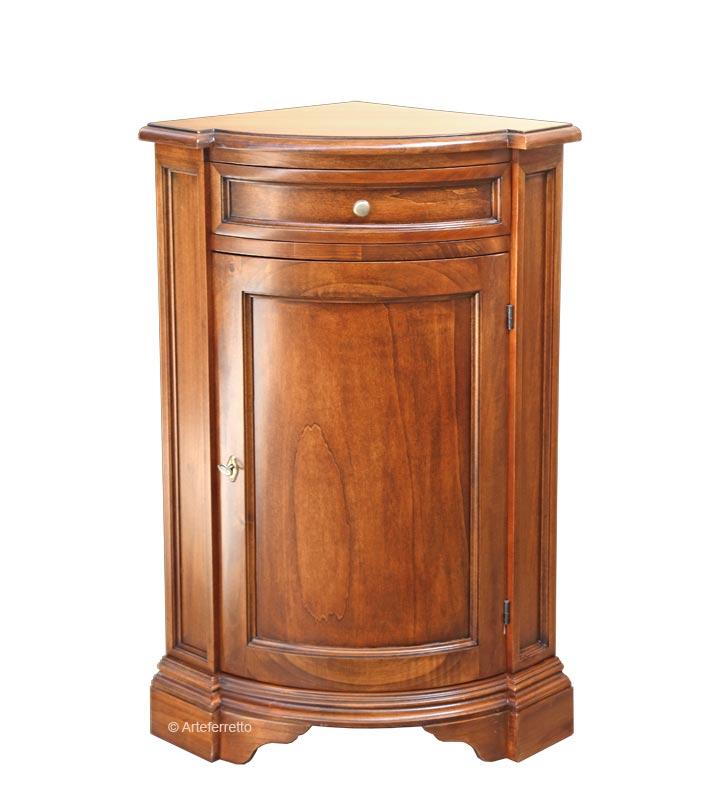 Mueble de esquina en madera color cerezo o nogal