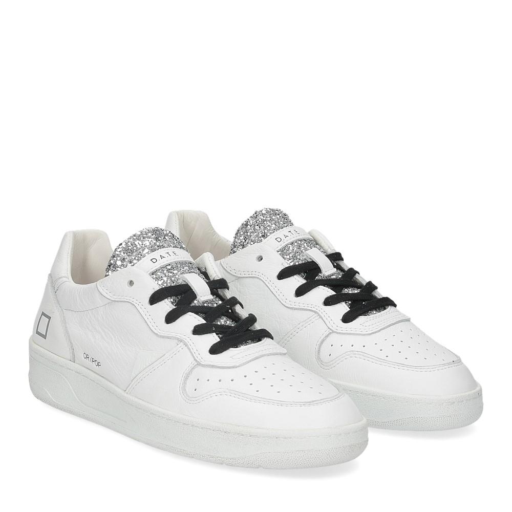 D.A.T.E. Court Pop glitter white
