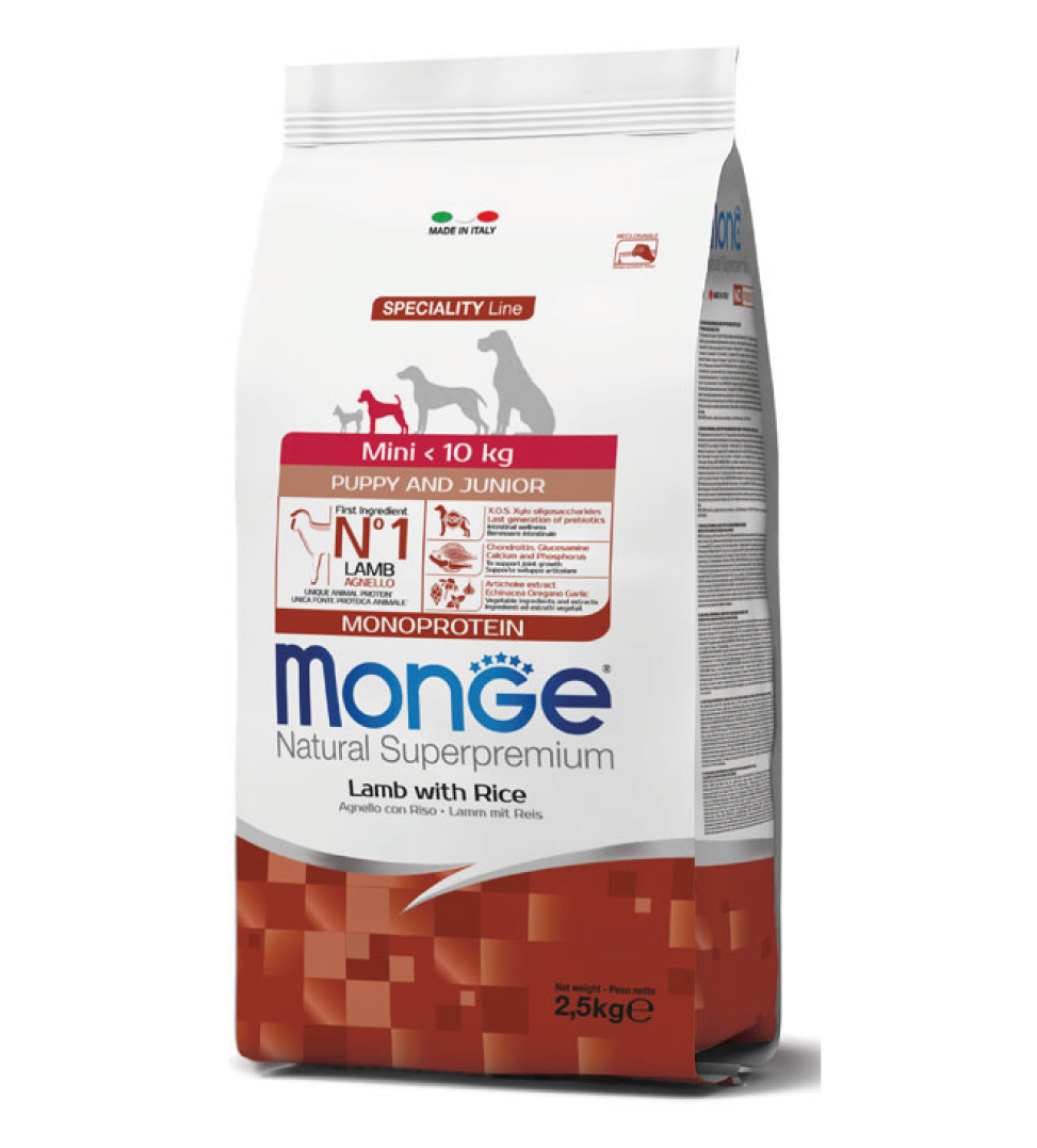 Monge - Natural Superpremium - Mini Puppy&Junior - Agnello - 2.5 kg