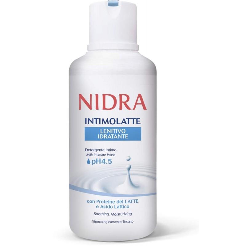 NIDRA detergente intimo latte lenitivo idratante ph 4.5 500ml