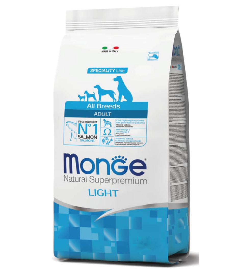Monge - Natural Superpremium - All Breeds - Light - 12 kg x 2 sacchi