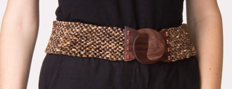 Cintura in legno naturale. Cinture artigianali online