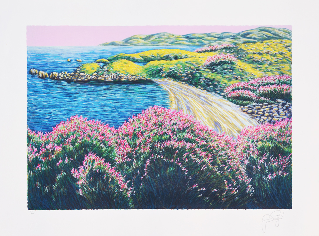 Azzinari Franco Paesaggio Serigrafia Formato cm 60x80