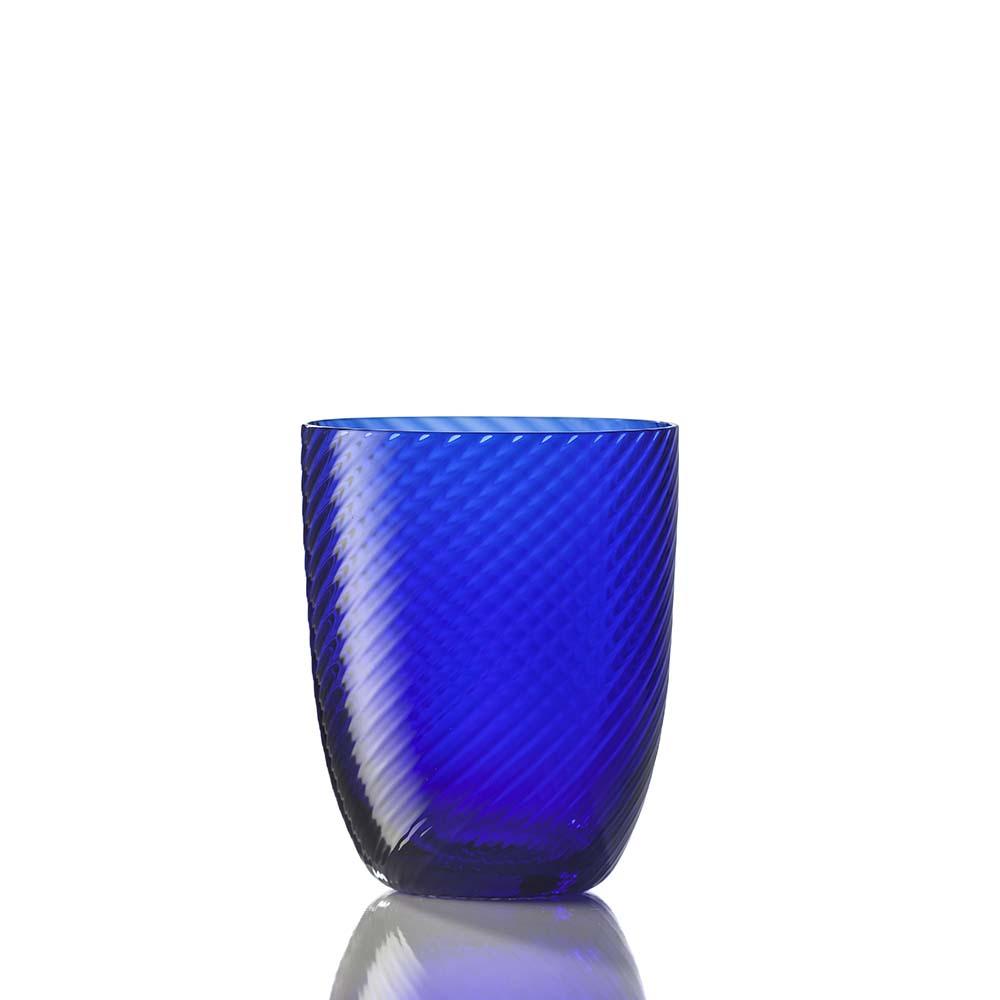 Bicchiere Idra Rigato Ritorto Blu