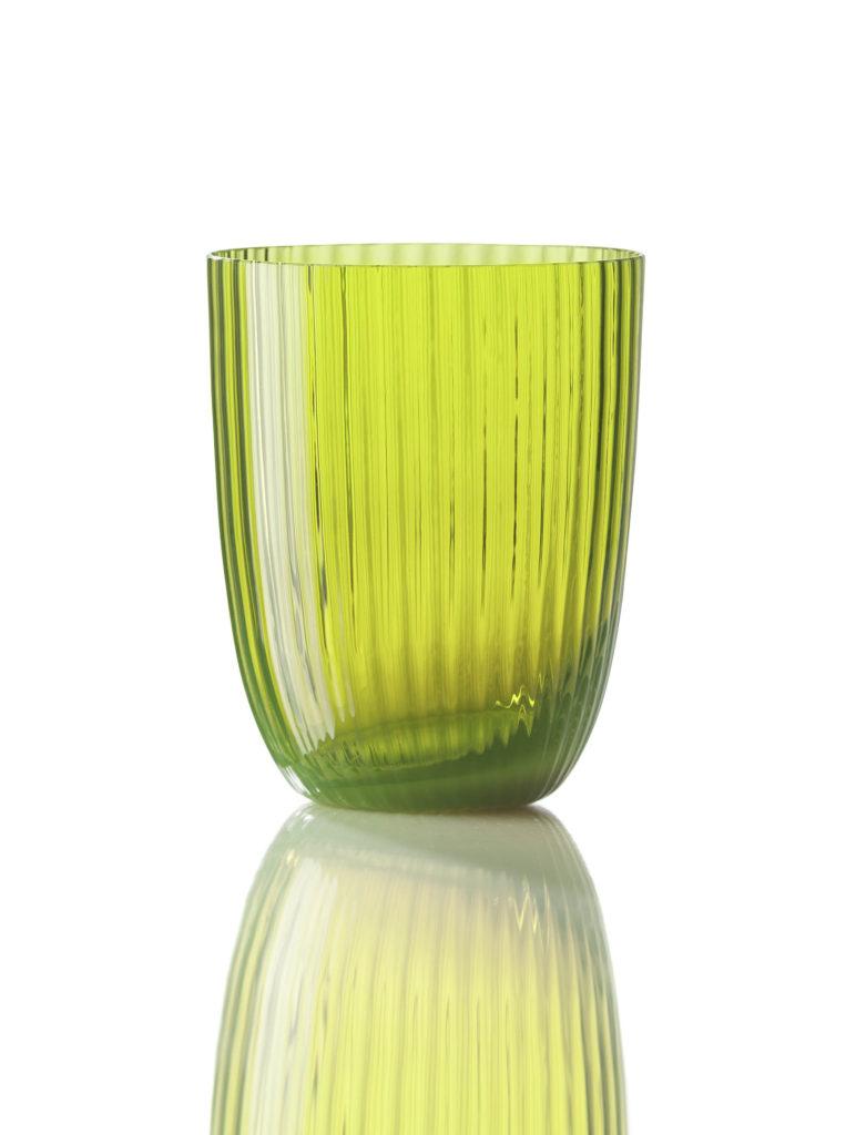 Bicchiere Idra Rigato Verde Acido