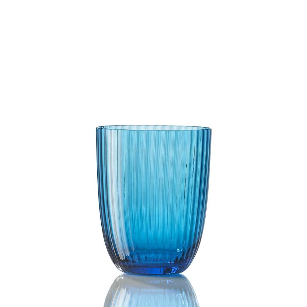 Bicchiere Idra Rigato Turchese