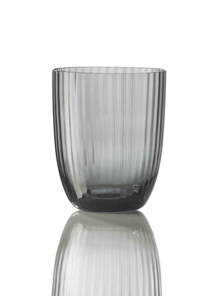 Bicchiere Idra Rigato Grigia