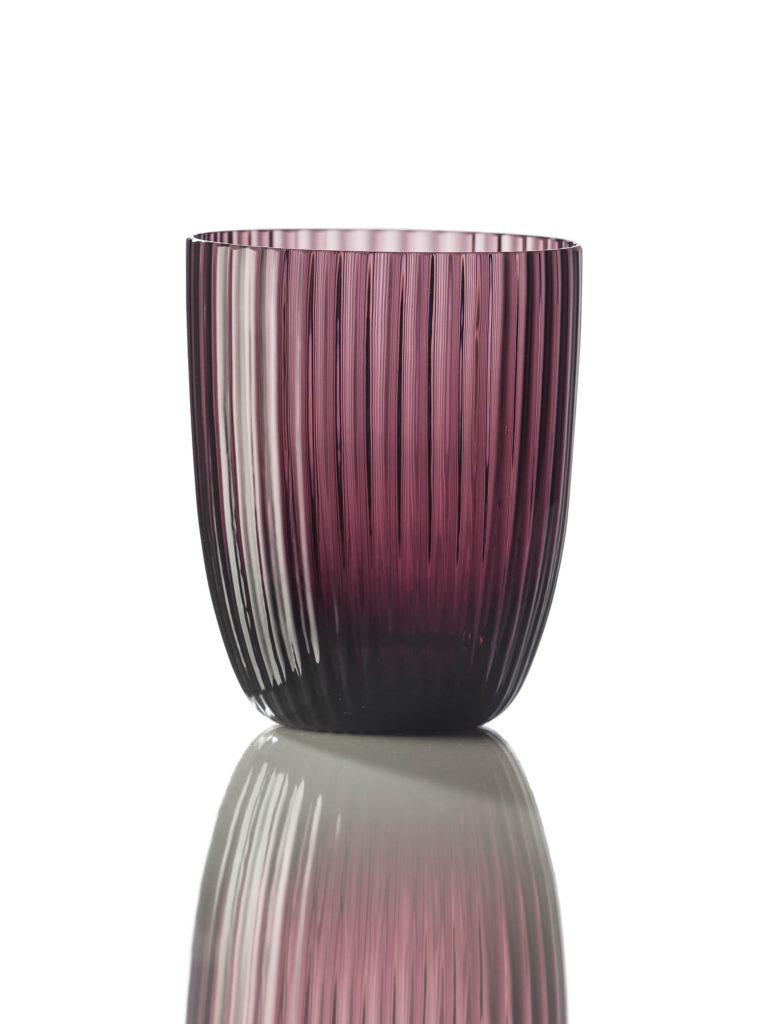 Bicchiere Idra Rigato Violetto