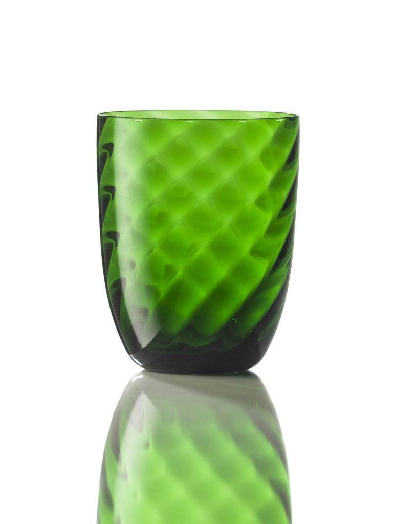 Bicchiere Ottico Torsè Verde Pino