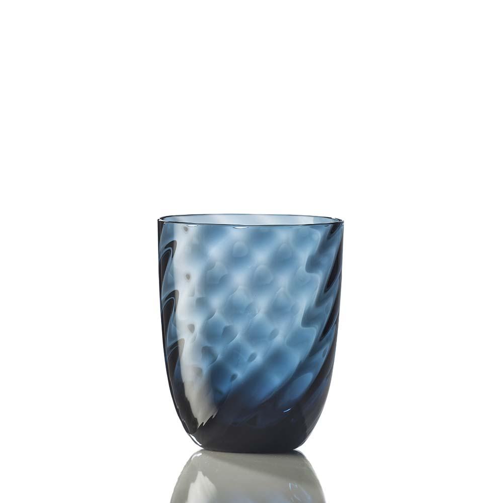 Bicchiere Idra Ottico Torsè Blu Avio