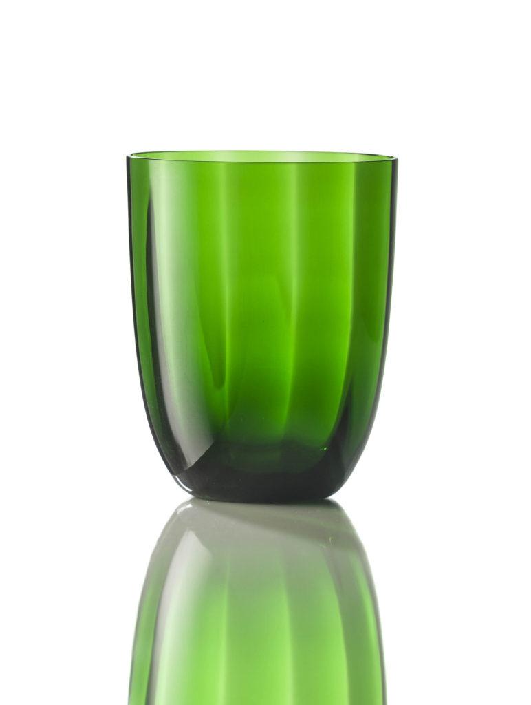 Bicchiere Idra Ottico Verde Pino
