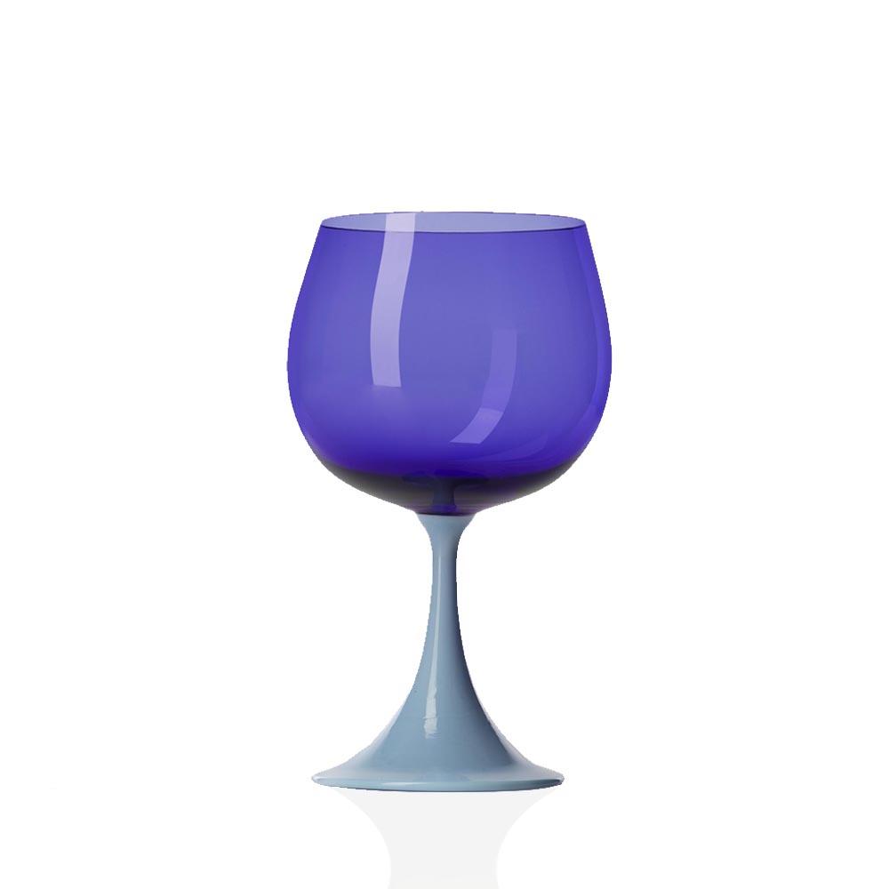 Calice Borgogna Burlesque Celeste-Blu