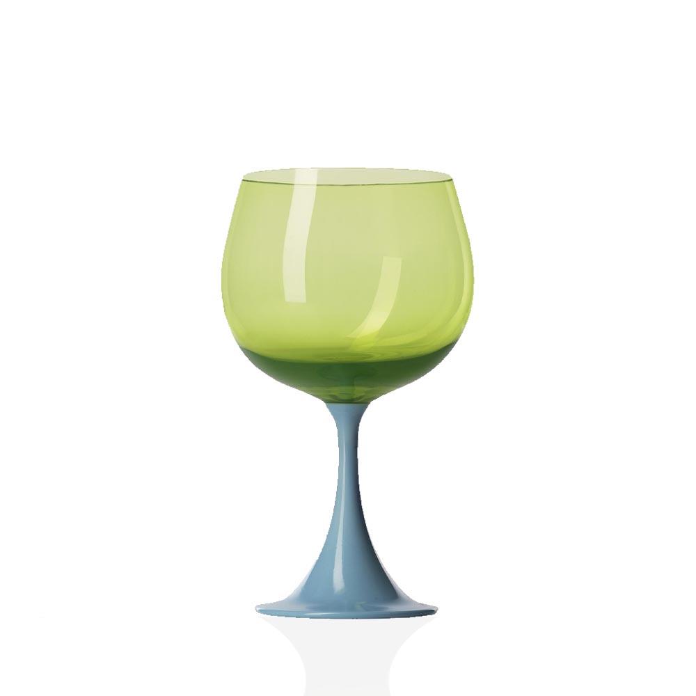 Calice Borgogna Burlesque Celeste-Verde Acido