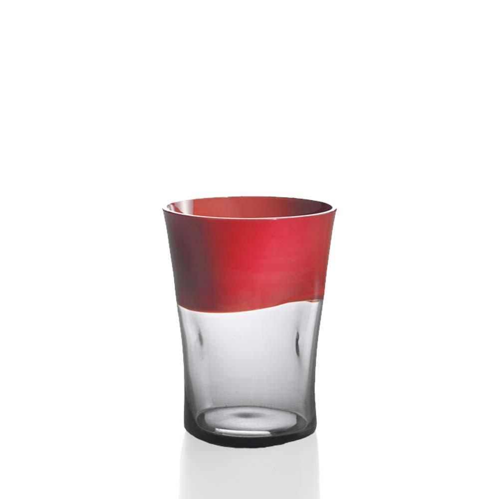 Bicchiere Acqua Dandy Corallo Grigio