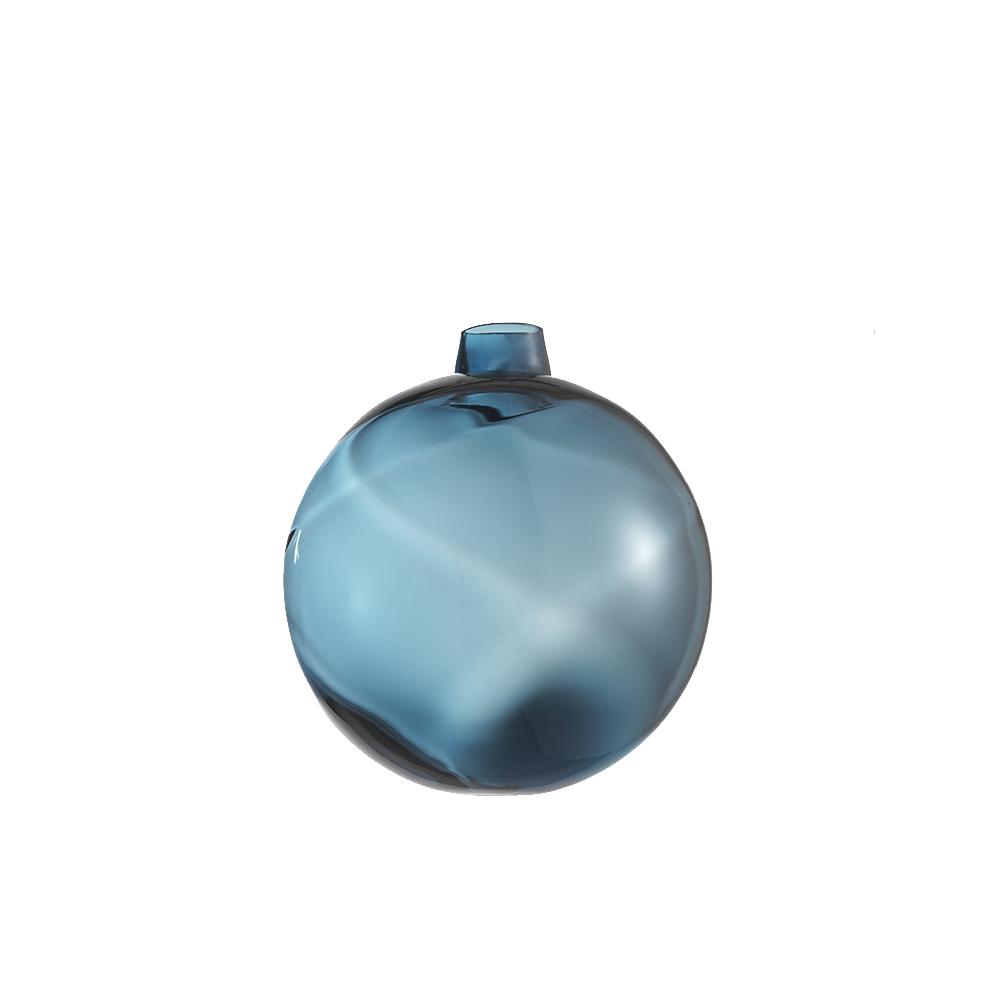 Pallina Natale Lente Blu Avio