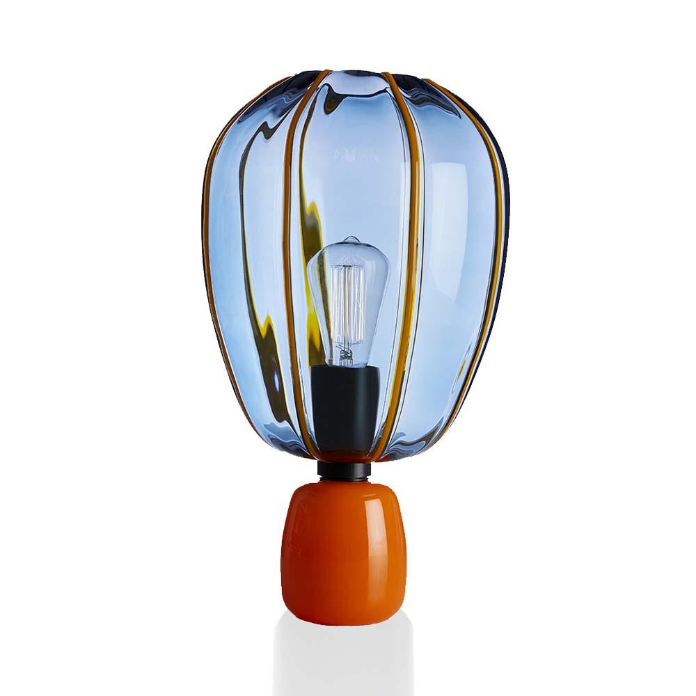 Lampada Mongolfiera Blu Avio-Arancio