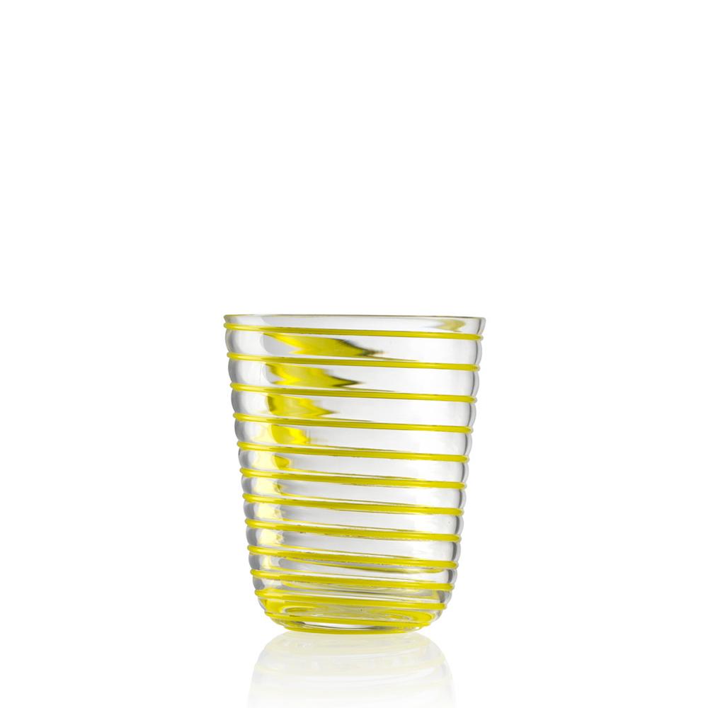 Bicchiere Acqua Twist Giallo
