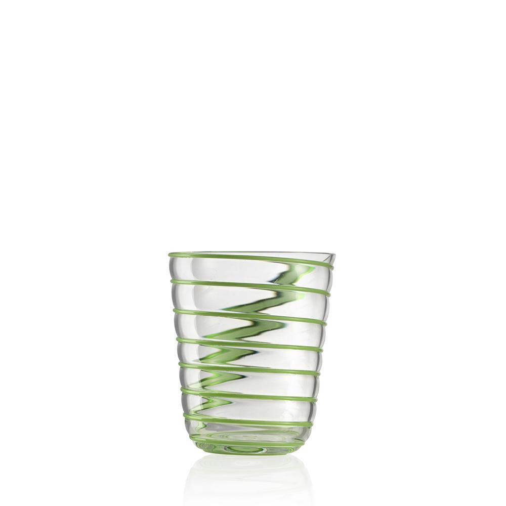 Bicchiere Acqua Twist Verde