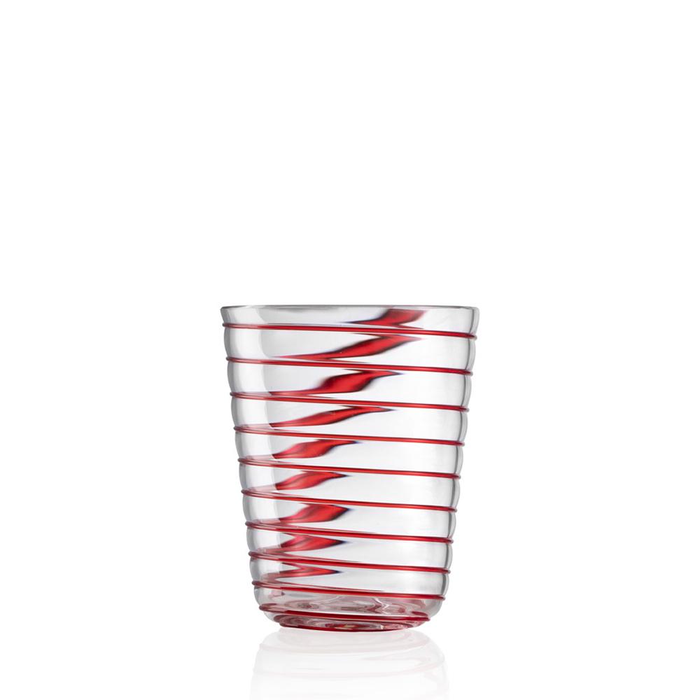 Bicchiere Acqua Twist Rosso