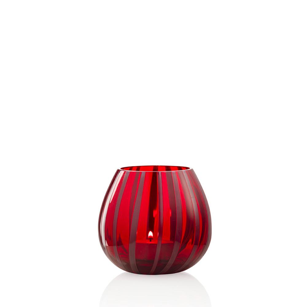 Portacandela String Mirtillo Rosso