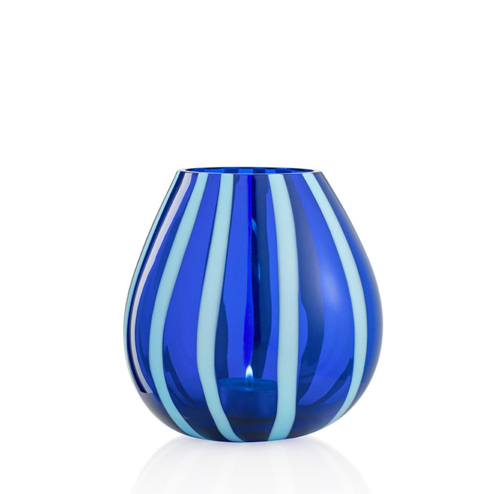 Portacandela String Grande Celeste Blu