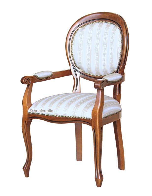 Armlehnstuhl Louis Philippe klassisch
