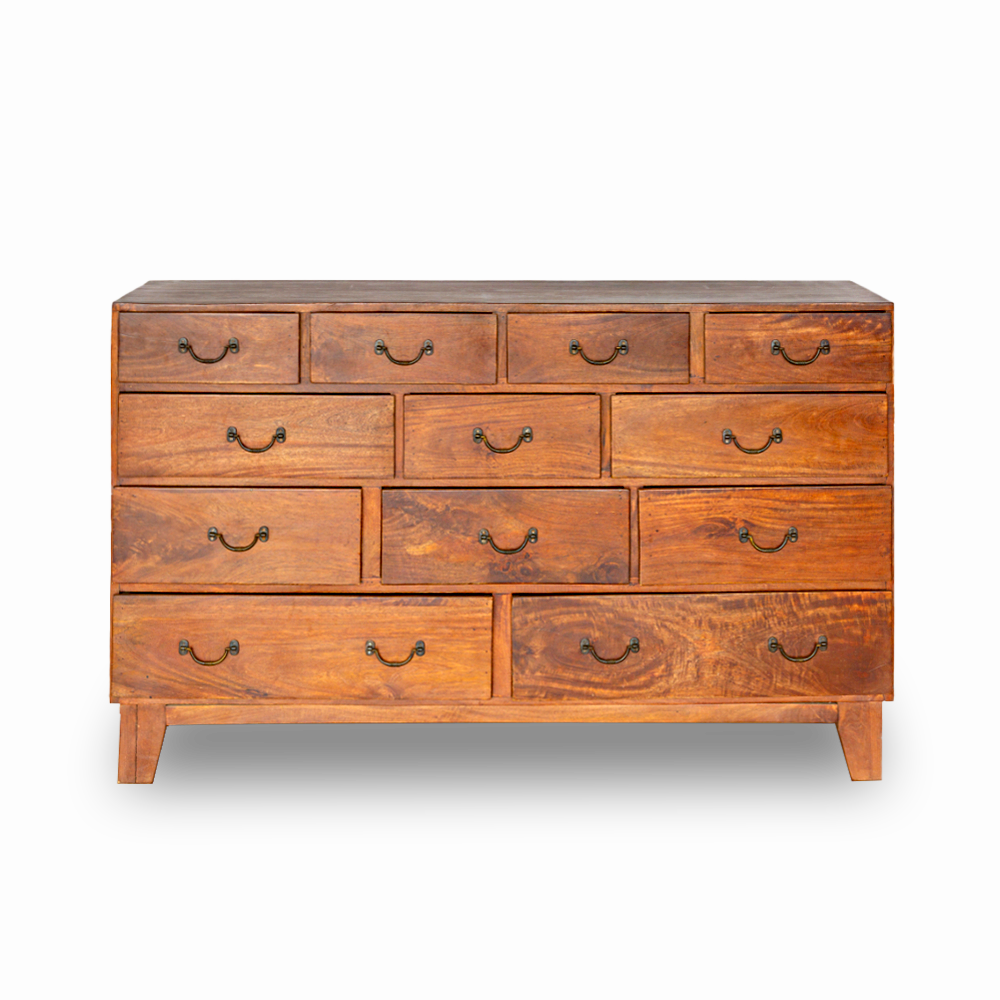 Cassettiera in legno di palissandro indiano