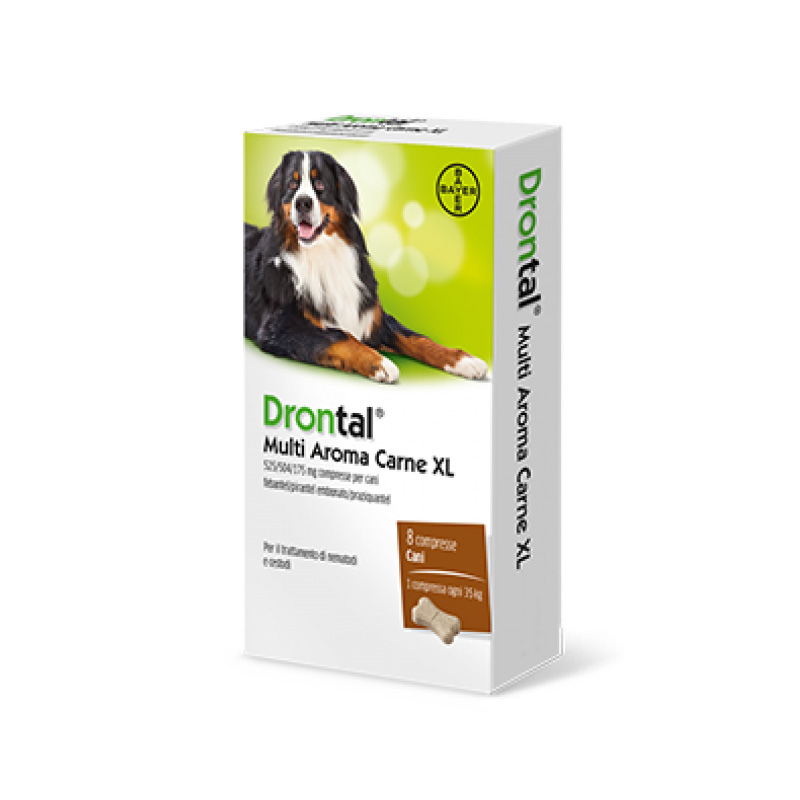 DRONTAL CANE MULTI AROMA XL (8 cpr) – Combatte i parassiti intestinali - Bayer