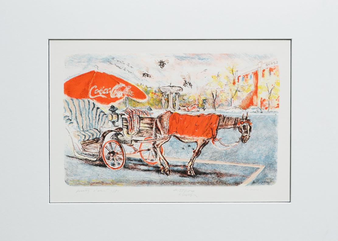 Piacesi Walter Fiacre Litografia Formato cm 53x73