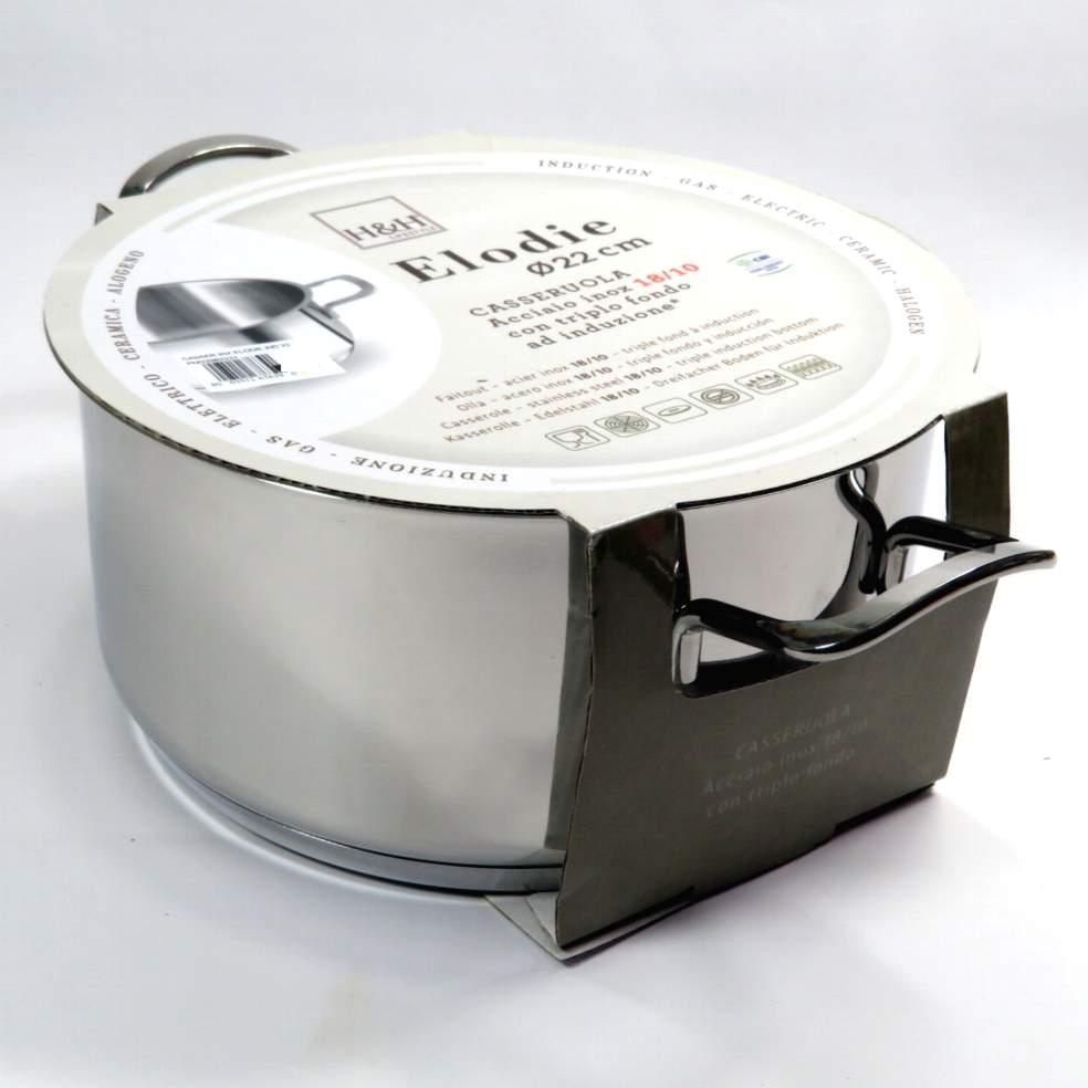 Casseruola in acciaio modello Elodie induzione 22cm