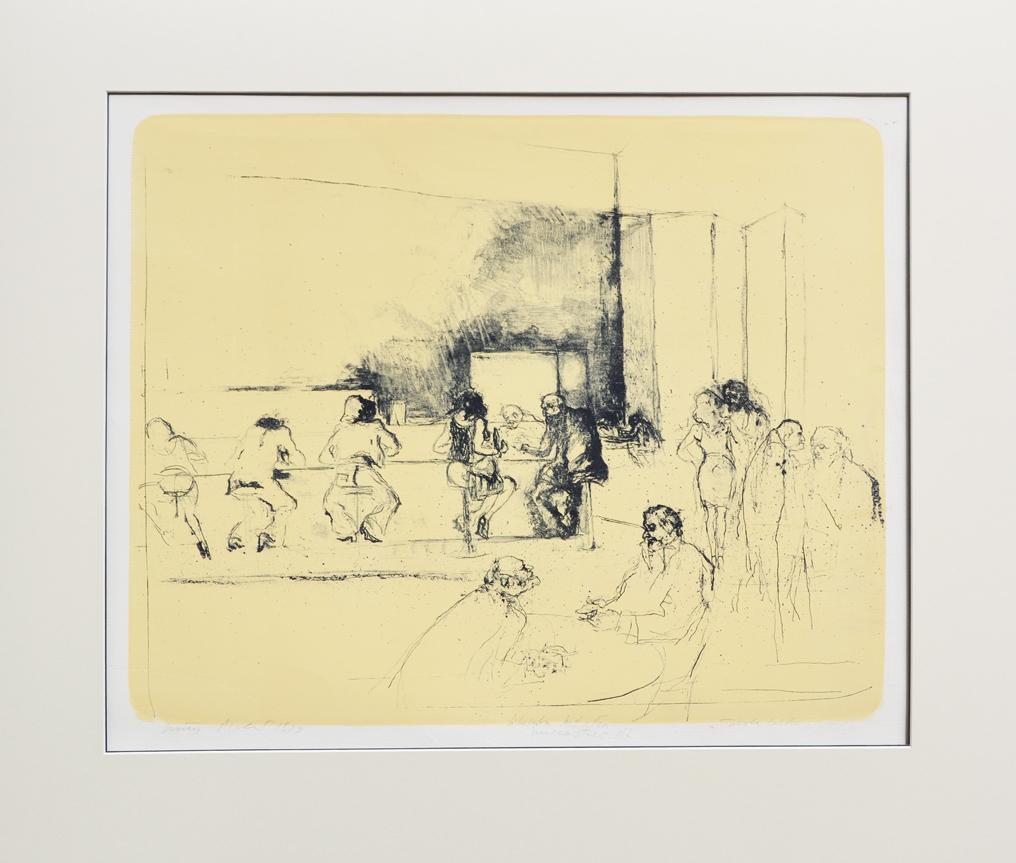 Piacesi Walter Litografia Tavola calda Formato cm 62x73