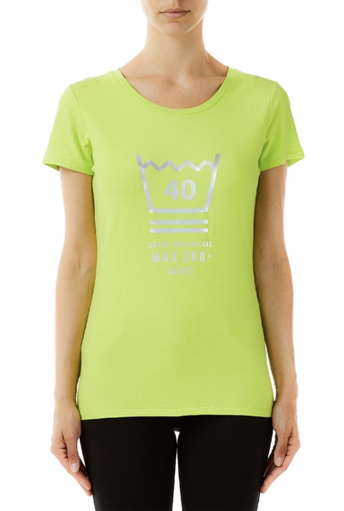 T Shirt glitter verde acido - LIU JO