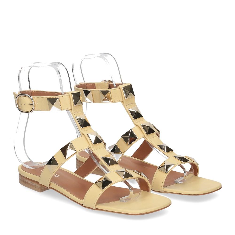 Il Laccio sandalo C108 pelle giallo