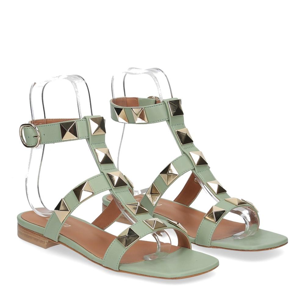 Il Laccio sandalo C108 pelle verde