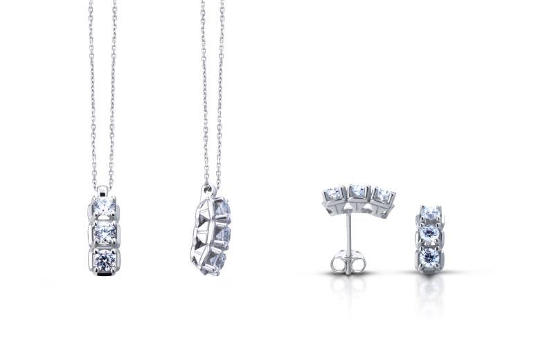 TRAMONTANO - COLLANA TRILOGY in oro e diamanti