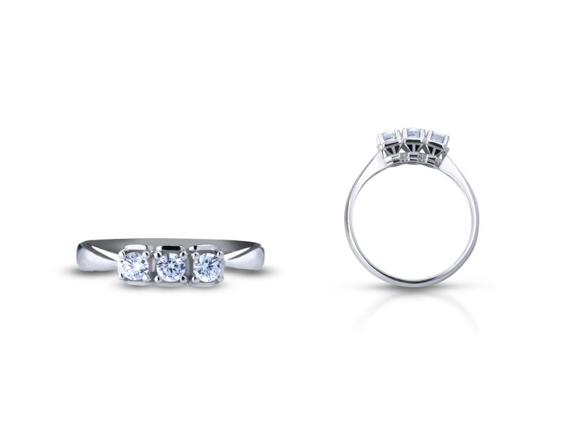 TRAMONTANO - ANELLO TRILOGY in oro e diamanti