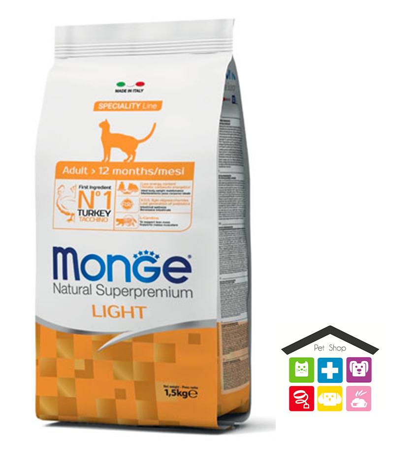 Monge cat Adult – Light Tacchino 1,5kg