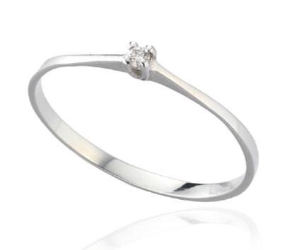 TRAMONTANO - ANELLO SOLITARIO in oro e diamante