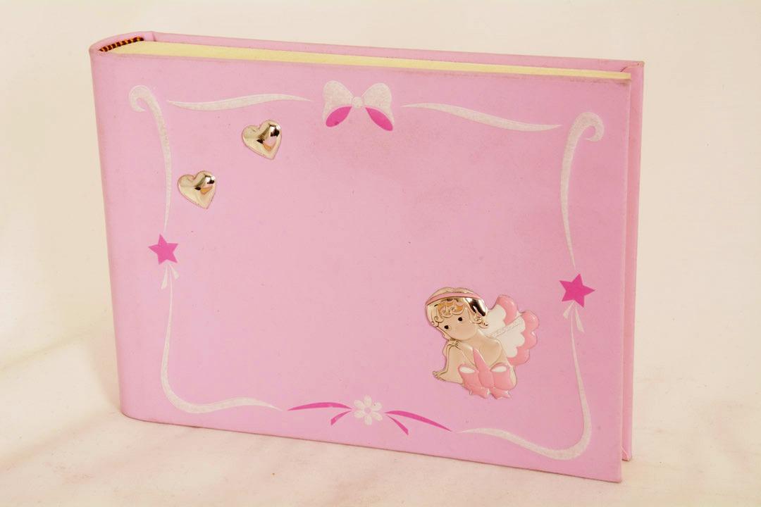 Album portafoto rosa in similpelle