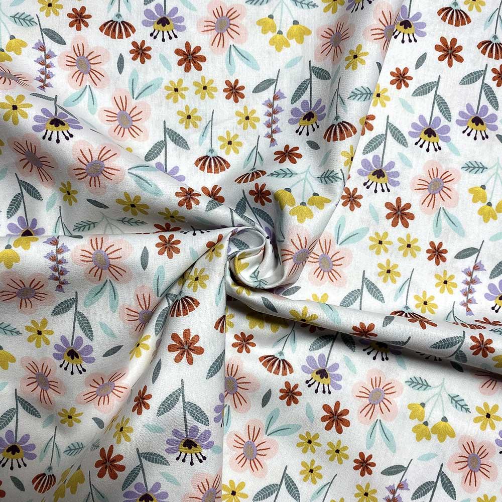 Cotone  fantasia floreale - Oeko-Tex 100- By Poppy
