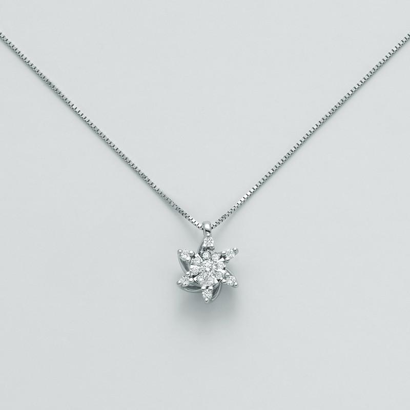Miluna Girocollo in oro con Diamanti CLD4233