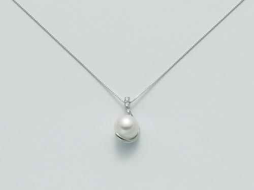 Collana Miluna In Oro E Diamanti Con Perle Parure Perle PCL3329