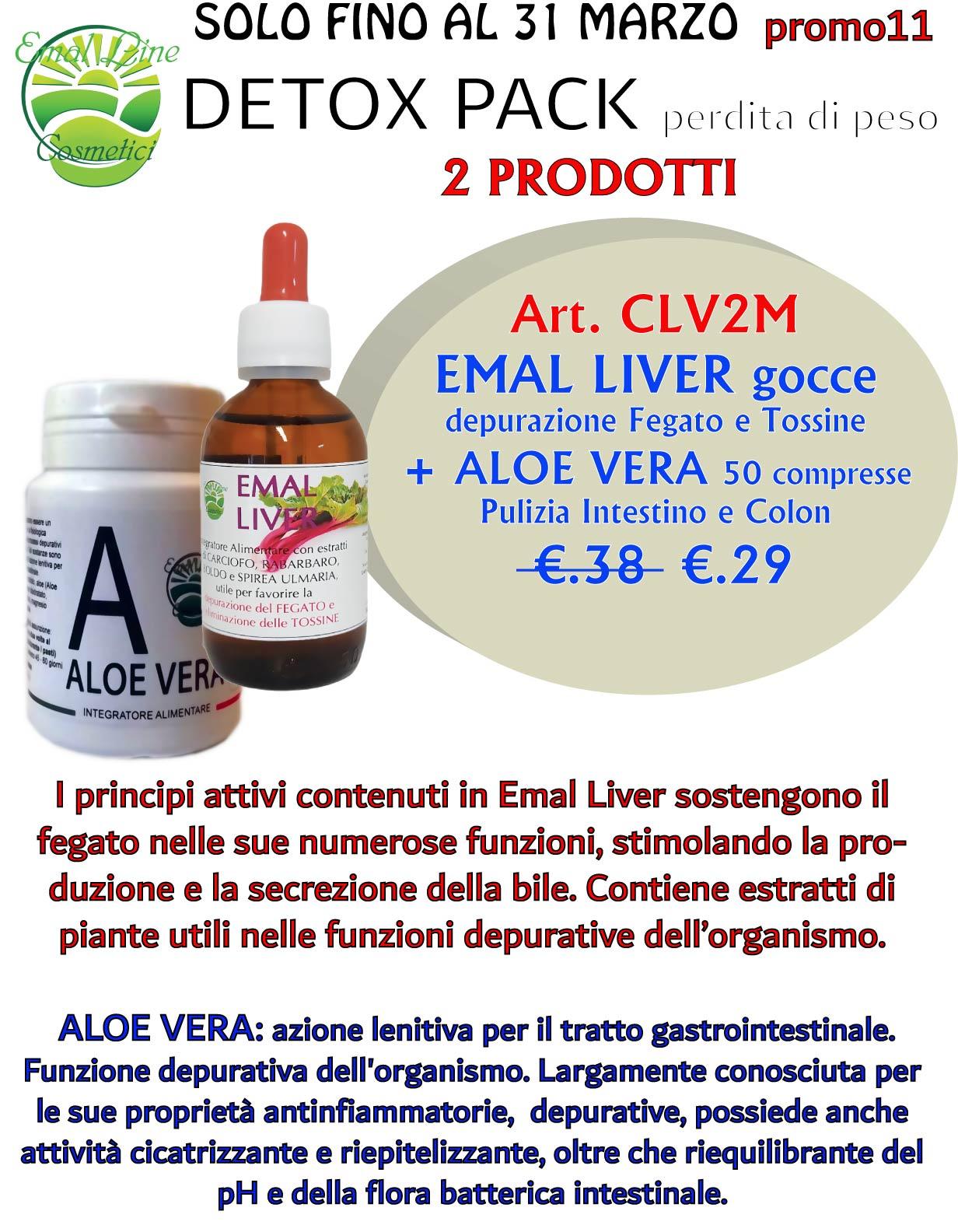 Detox Pack Depurativo. Pulizia Colon e Fegato 2 prodotti